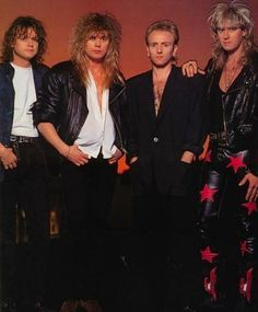 See Def Leppard pictures, photo shoots, and listen online to the latest music. 80s Rock Bands, 80s Hair Bands, 80s Music, Rock Music, Great Bands, Cool Bands, Phil Collen, Rick Savage, Joe Elliott