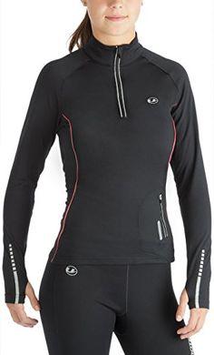 Ultrasport Nelli - Camiseta de correr de manga larga para mujer, color negro, talla L #camiseta #realidadaumentada #ideas #regalo