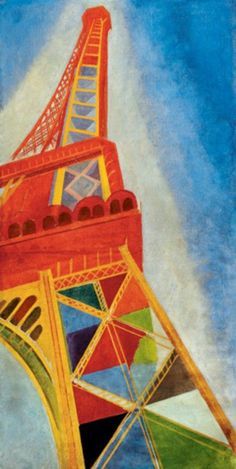 Items similar to Delaunay - Eiffel Tower Paris beautiful fine art print in choice of sizes on Etsy Sonia Delaunay, Robert Delaunay, Eiffel Tower Painting, Eiffel Tower Art, Eiffel Towers, Henri Rousseau, Raoul Dufy, Oil Painting Reproductions, Art Moderne