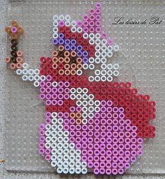 Fairy Sleeping Beauty Disney hama perler by Les loisirs de Pat