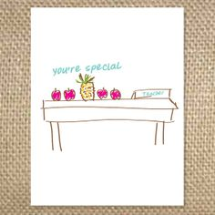 Back to School You're Special Greeting Card by uluckygirl on Etsy, $2.95