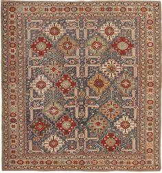 Antique Shirvan Rug #43980  http://nazmiyalantiquerugs.com/antique-rugs/caucasian-rugs-antique-caucasian-carpets/
