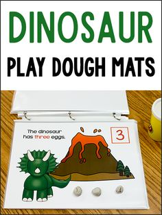 These Dinosaur Play Dough Counting Mats will help your pre-k kids learn counting skills while playing and exercising their fine motor muscles. These will go great with a Dinosaur Theme. You can also find many more Play Dough Mats here. To prepare these mats, just print and either laminate or slip them in clear page protectors. I always choose to put them in page protectors and then I bind them