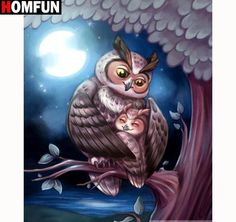 Owl mother child cartoon animal Diamond Painting Round Full Drill Nouveaute DIY Mosaic Embroidery Cross Stitch home decor Owl Cartoon, Cartoon Kids, Owl Family, Owl Photos, Beautiful Owl, Mosaic Diy, Gif Animé, 5d Diamond Painting, Owl Art