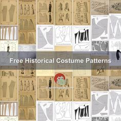 A list of free historical costume patterns including medieval, Elizabethan and…
