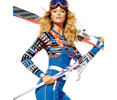 Hit the Slopes in These Sexy Looks!: Beauty: Self.com : It might be freezing on the slopes, but you don't have to dress like the Michelin Man. Supermodel Kate Bock demos how to look slamming without the frostbite. See something you love? Tell us the pieces you'd totally sport in the snow. via @Sara Self Magazine