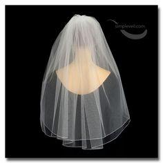 Two Layer Pencil Edge Elbow Length Bridal Veil
