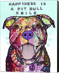 Pitbull Wall Art pit bull splash art wall decal - dogs have a waydean russo