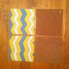 From boring cork board to a fun design! Super cheap and easy!