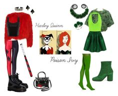 Casual Cosplay Outfits Inspired by Harley Quinn and Poison Ivy Casual Cosplay, Cosplay Outfits, Poison Ivy, Harley Quinn, Alexander Mcqueen, Hue, Costa, Polyvore, Collection