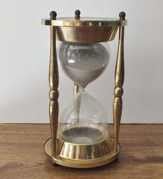 "Brass Maritime Nautical Ship Hourglass 9"" Vintage Sand Timer Clock Navy"