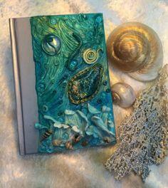 Deep Blue Sea Polymer Clay Tagebuch/Notizbuch von Melissa le Fays Little Treasures auf DaWanda.com