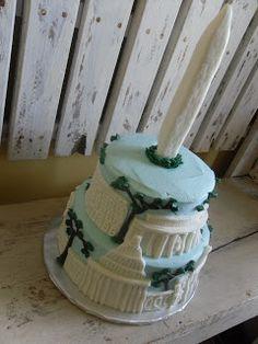 Washington DC Landmark Cake