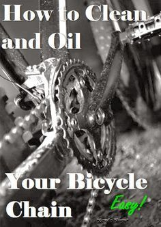 How to Clean and Oil a Bicycle Chain. So easy! It's important to maintain your bike to keep you safe and ensure it's longevity.