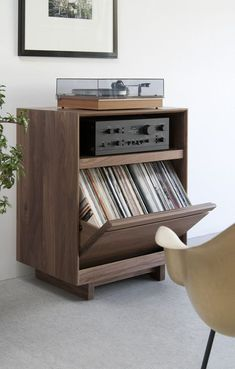 Diy Record Storage Luxury Aero Lpc 101 Lp Storage Cabinet Home Turntable Stereo Cabinet, Record Cabinet, Record Shelf, Record Wall, Media Cabinet, Dvd Storage, Vinyl Storage, Storage Ideas, Storage Cabinets