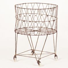 """Dimensions: 22 1/4"""" round x 29 1/4"""" tall Laundry Basket"""