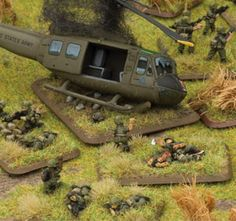 My newest project! A large 4' x 8' battlefield recreation of a Vietnam firebase under attack by VC forces. It will include Huey's, Skyraiders, tanks & APC's, artillery pieces, lots of troops & incredible scenery. There will be bunkers, trenches, foxholes, LP's, barbed wire, and actual battlefield sounds! All done in 1/100 scale.  My tribute to the bravest fighting men of my generation, American soldiers, sailors, marines and airmen from U.S. forces engaged in battle in Vietnam.