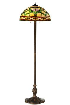 """Ainsley Floor Tiffany Lamp - 60""""H x 18""""W to place on other side of a Settee"""