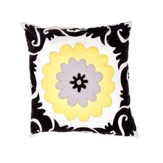 Pop nomad - Contemporary - 18 inch Pillow - Set of 2 -JAR-PLSQ825526-0004. Pop nomad - Contemporary - 18 inch Pillow - Set of 2 -JAR-PLSQ825526-0004 A fun , funky collection of pillows in 100% cotton, taking inspiration from suzani patterns which have been rescaled and updated .Colors mix black and .. . See More Decorative Pillows at http://www.ourgreatshop.com/Decorative-Pillows-C685.aspx
