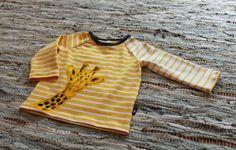 handmade shirt, drawn giraffe