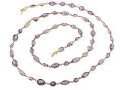 Amethyst Necklace in 14K from B2 at Beladora.com