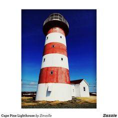 Cape Pine Lighthouse Postcard Communication Tower, Newfoundland Canada, Light Building, Postcard Size, Historical Sites, Dog Design, Bays, Pine, Around The Worlds