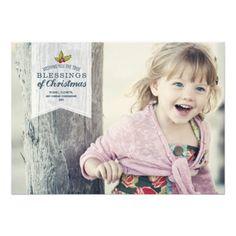 Christmas Blessings | Holiday Photo Card Custom Invitations http://www.zazzle.com/christmas_blessings_holiday_photo_card_invitation-161326075662688230?printquality=4color&rf=238675983783752015