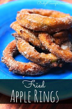 DESSERT TIME ! Simple and Easy To Make - Done in under 30 minutes - The batter fried apple rings covered cinnamon sugar! Everyone will love it! Perfect for the holidays. Fried Apple Rings Recipe