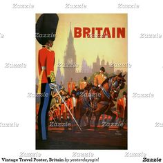 Vintage Travel Poster, Britain Poster