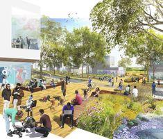 University of Washington Campus Master Plan – Sasaki Northern Arizona University, University Of Washington, Landscape Elements, Public Realm, Green Street, Landscape Services, Pedestrian Bridge, Master Plan, Urban Design