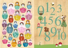 Learn your letters and numbers with Green Nest posters