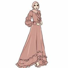 🌸Be the kind of woman that makes other women want to up their game🌸 . Fashion Model Drawing, Fashion Drawing Dresses, Fashion Illustration Dresses, Fashion Design Drawings, Fashion Sketches, Muslim Fashion, Hijab Fashion, Dress Design Sketches, Fairytale Dress