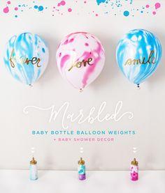 #DIY marbled #BabyShower Decor