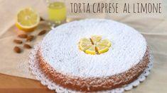 Torta caprese al limone, torta a base di farina di mandorle. Delizioso dolce senza glutine adatto agli intolleranti, perché non contiene farina di frumento.
