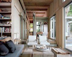 Vacation cabin in Longbranch, Washington. Designed by architect Jim Olson.