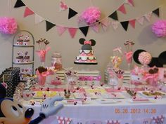 lovely dessert table - Minnie Mouse party
