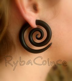 Fake ear gauge / Faux gauge/Gauge earrings / fake by RybaColnce, $17.00