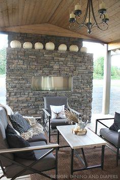 Fall Porch via designdininganddiapers.com