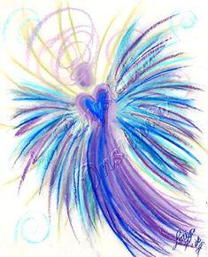 Indigo Crystal Children - Wisdom of the Angels Easy Paintings, Watercolor Paintings, Angel Paintings, Angel Drawing, I Believe In Angels, Indigo Children, Angel Pictures, Angel Art, Painting Inspiration