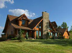 Log Home Interior Gallery | Hochstetler Milling