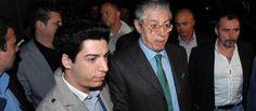 Renzo Bossi con il padre Umberto (ImagoEconomica)