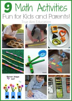 9 Math Activities for Kids including Math Snacks, Free Printables, Games and more!