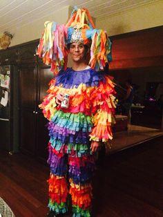 Piñata costume! Made with tissue paper