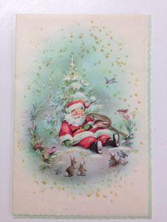 Santa Vintage card Hampshire publishing HAP Made in the USA