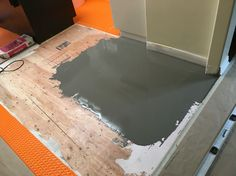 Found a low patch, Ardex liquid backer board fixes that, pretty easy
