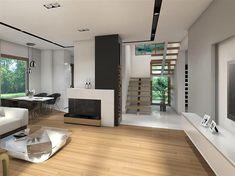 Projekt domu Reksio N+ 103,37 m2 - koszt budowy 180 tys. zł - EXTRADOM House Outside Design, House Design, Modern House Floor Plans, Design Case, Home Fashion, Modern Farmhouse, Portal, Sweet Home, Flooring