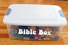Bible box to grab in a pinch when illustrating lessons