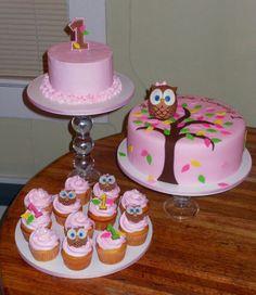 Mooie uilen taart.