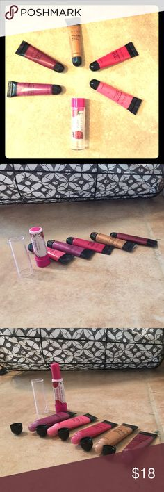 5 avon fruity lip juice and 1 wet'n'wild lip balm Five Avon lip glosses in bottom pic from left to right colors are: Fresh Grape; Watermelon; Pineapple; Citrus Pink; Fruit Punch. The lip balm is Wet'n'wild SPF 15 and has been gently used. Watermelon, Citrus Pink, and Fresh Grape were used a few times but all of these including the lip balm are sanitized. Avon are .5 fl ounces and the wet'n'wild is .26 ounces. If you have any questions don't hesitate to ask. All offers will be taken into…
