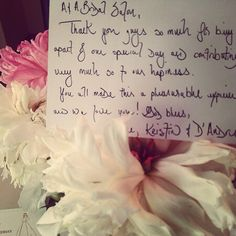 A beautiful Note from our #bride #groom #mrandmrs D'Andre Williams. Just a joy working with a great couple.!!!